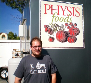 Jason Taylor with his mobile kitchen