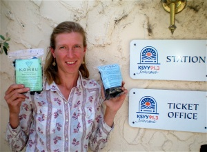 Heidi Herrmann with her dried seaweed products