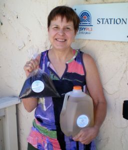 Debbie Stevens and her wonderful worm compost and aerated tea