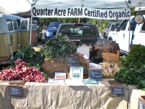 First week back at the Sonoma Valley farmer's market