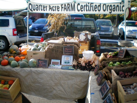 November at the farmers' market