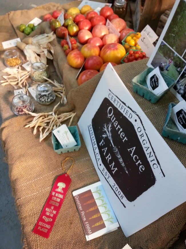 My farm's display received a 2nd place ribbon