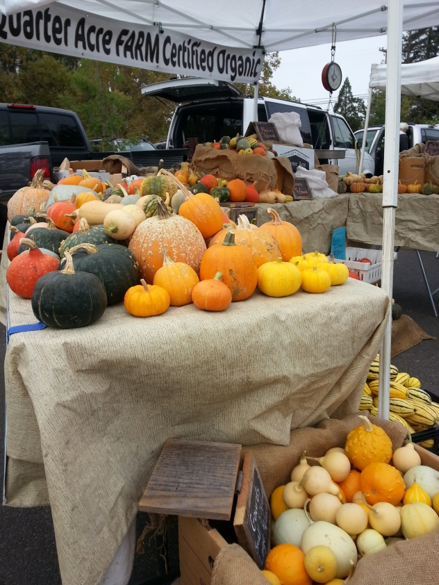 October at the farmers' market